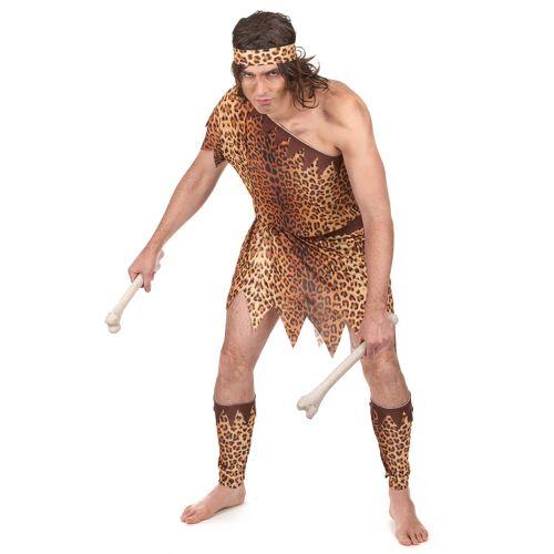 Vegaoo Höhlenmensch Kostüm für Herren