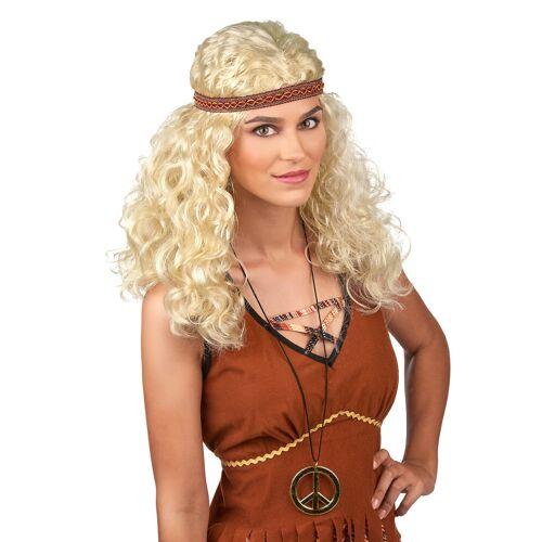 Vegaoo Blonde Hippie Perücke für Frauen
