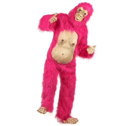 Vegaoo Pinkes Gorilla Kostüm für Erwachsene