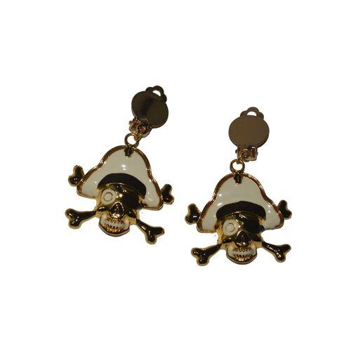 Vegaoo Goldene Piraten-Ohrringe für Erwachsene