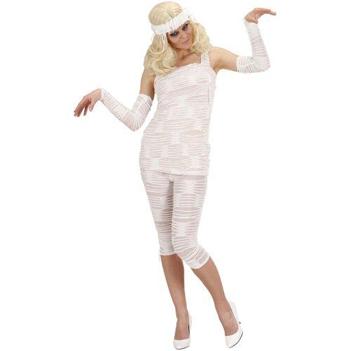 Vegaoo Mumien-Kostüm Halloween für Damen weiss - L