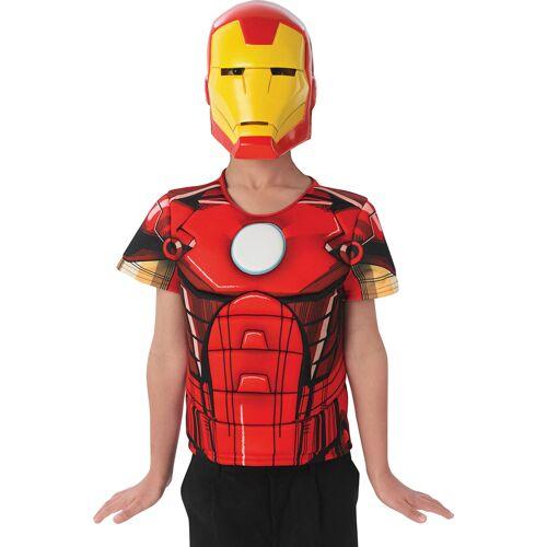 Vegaoo Iron Man The Avengers Maske und Schutzschild für Kinder