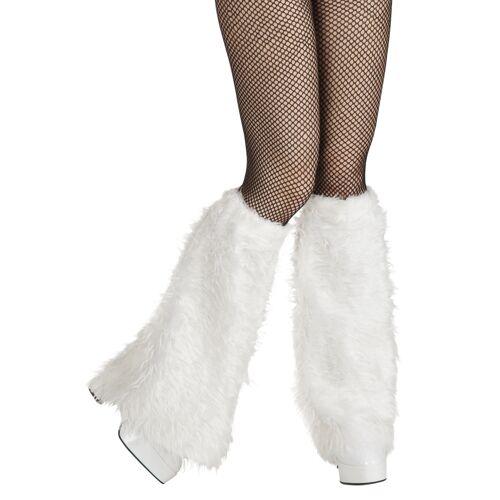 Vegaoo Beinstulpen aus Fell weiß