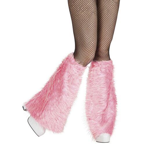 Vegaoo Beinstulpen aus Fell rosa