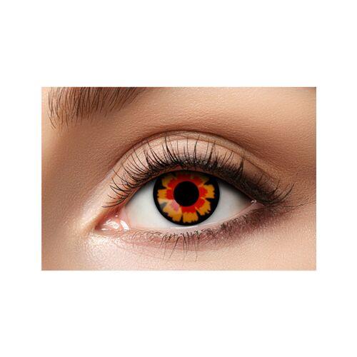 Vegaoo Kontaktlinsen schwarz-rot