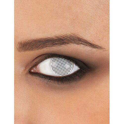 Vegaoo Kontaktlinsen weißes Gitter