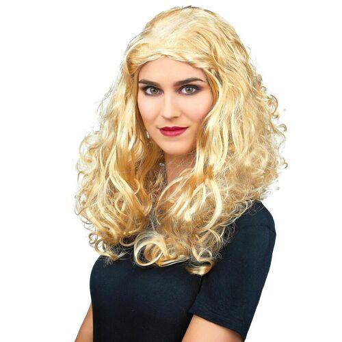 Vegaoo Lockige blonde Perücke für Frauen