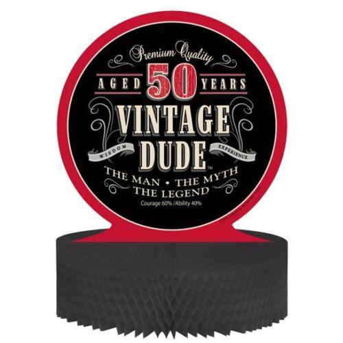 Vegaoo Tischaufsteller - Vintage 50. Geburtstag