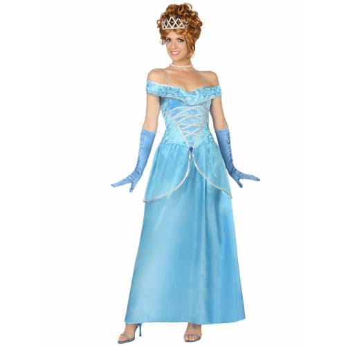 Vegaoo Blaues Prinzessin-Kostüm für Damen - XL