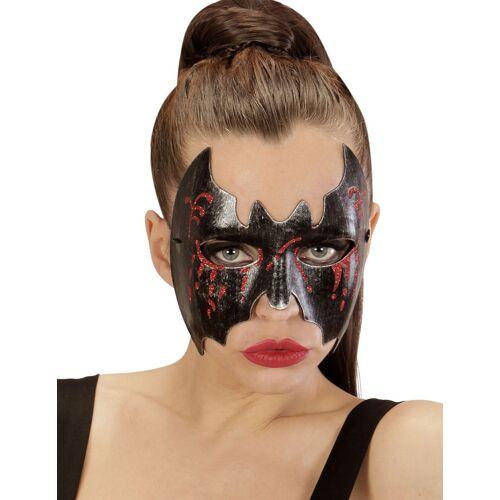 Vegaoo Blutige Fledermaus Halloween Augenmaske für Damen