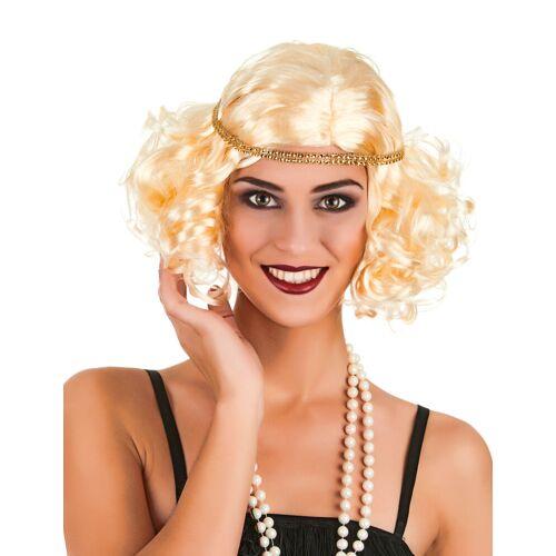 Vegaoo Blonde Charleston-Perücke für Frauen