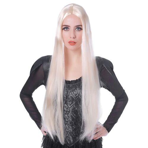 Vegaoo Damen-Perücke lang weissblond 75cm