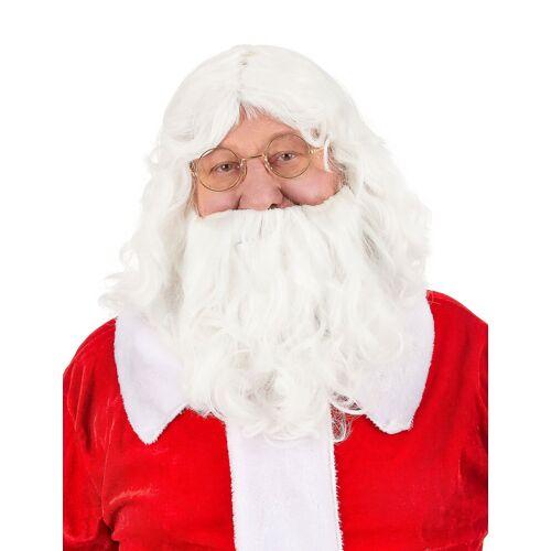 Vegaoo Perücke mit Bart für Weihnachtsmann