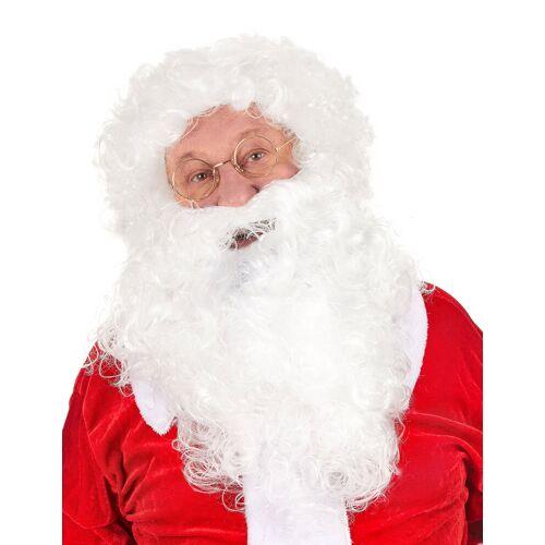 Vegaoo Weihnachtsmann Perücke mit Bart