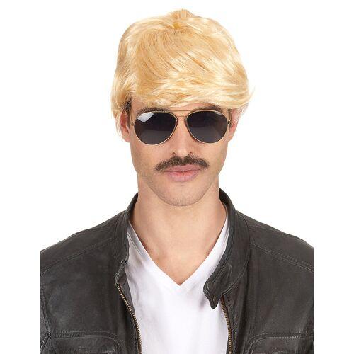 Vegaoo Blonde Kurzhaar-Perücke für Männer