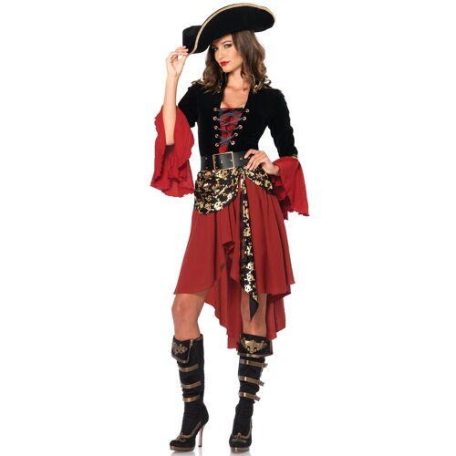 Vegaoo Elegantes Piraten-Kostüm für Frauen - L