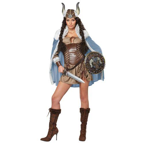 Vegaoo Wikinger-Kostüm für Damen Wikingerin mit Cape - S (38/40)