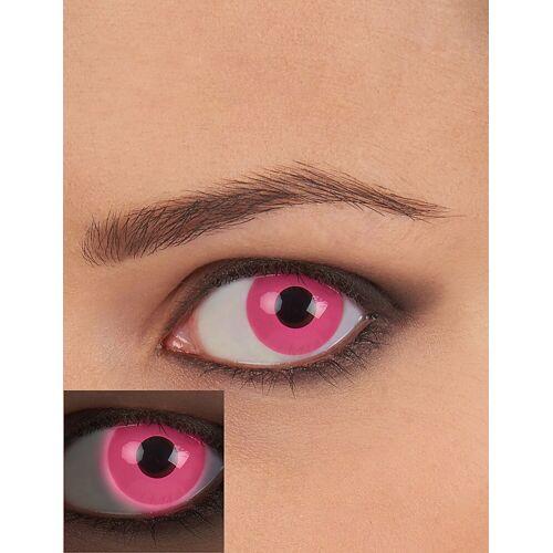 Vegaoo Pinke UV-Kontaktlinsen für Schwarzlicht