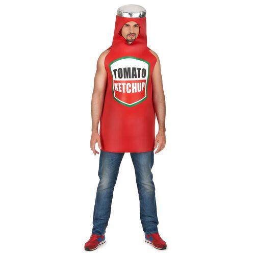 Vegaoo Ketchup Flasche Kostüm für Erwachsene