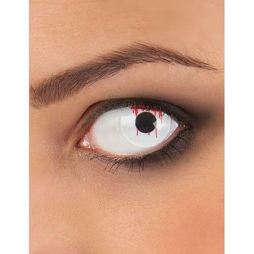 Vegaoo Weiße blutige Kontaktlinsen
