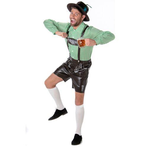 Vegaoo Bayerisches Lederhosen Kostüm für Erwachsene - S