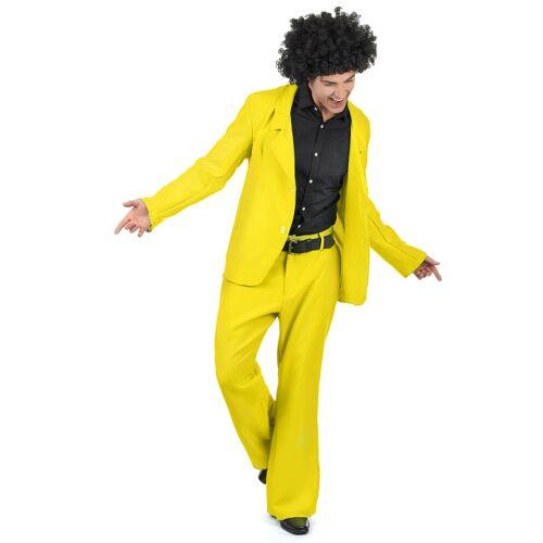 Vegaoo Gelbes Disco Kostüm - XL
