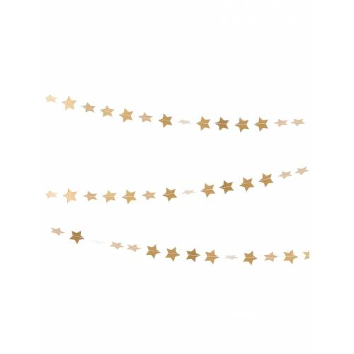 Vegaoo Goldene Girlande kleine Sterne