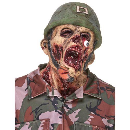 Vegaoo Zombie-Soldat Latexmaske
