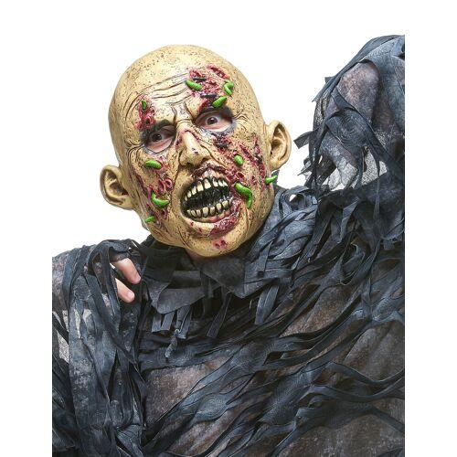 Vegaoo Zombie-Maske mit Maden