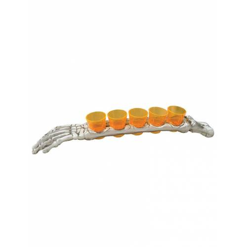 Vegaoo 5 Schnapsbecher mit Gruselarm für Halloween 48 cm