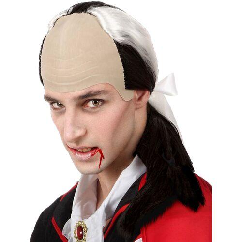 Vegaoo Vampir Perücke hohe Stirn für Herren