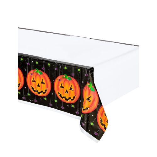 Vegaoo Plastiktischdecke Halloween-Kürbis