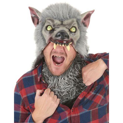 Vegaoo Werwolfmaske mit Kunstfell