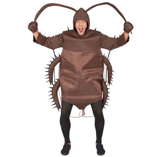 Vegaoo Kakerlaken-Kostüm für Erwachsene braun