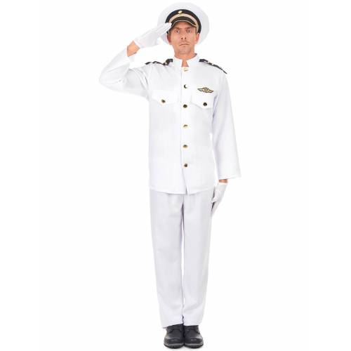 Vegaoo Marineoffizier Kostüm für Herren - S