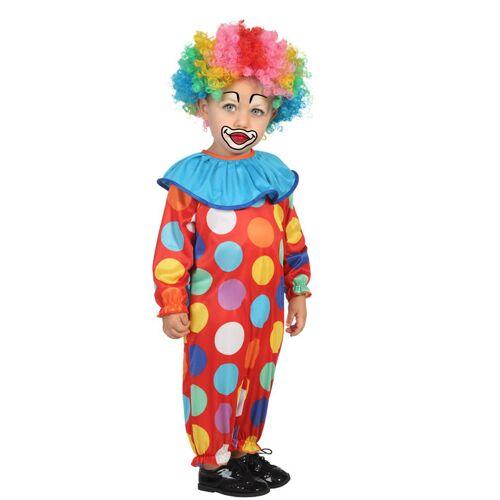 Vegaoo Clown Kostüm für Kleinkinder bunt - 80/92 (1-2 Jahre)