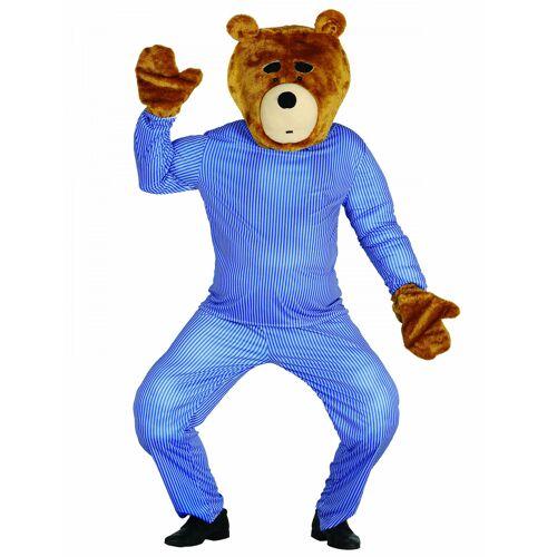 Vegaoo Teddybär-Set Kopf und Hände für Erwachsene