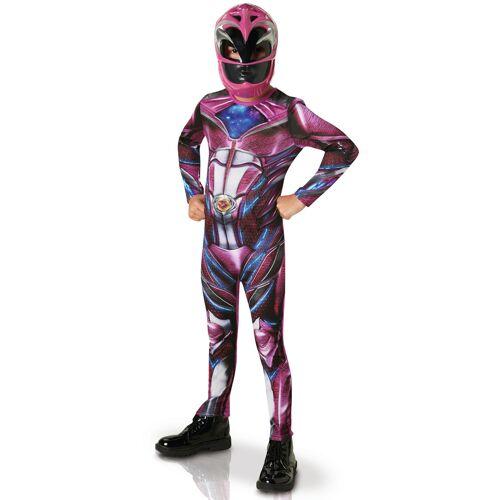Vegaoo Pinkes Power Rangers Kostüm für Kinder - 116/128 (7-8 Jahre)