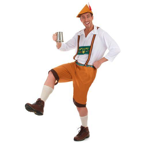 Vegaoo Bayer Kostüm mit Lederhose für Herren - L