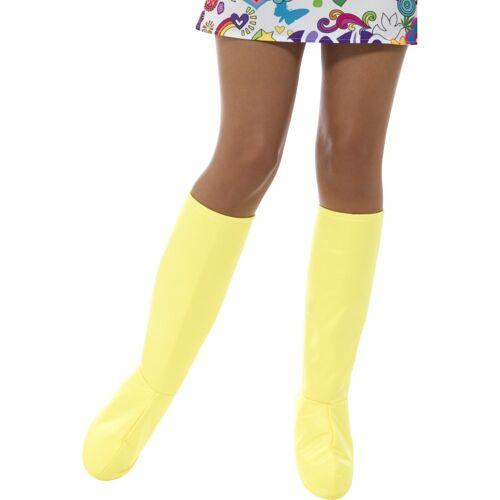 Vegaoo Stiefelgamaschen gelb Damen