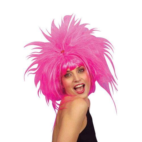 Vegaoo Pinke Punk Perücke für Damen