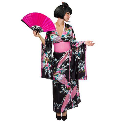 Vegaoo Japanisches Kimono Kostüm Damen - XS / S