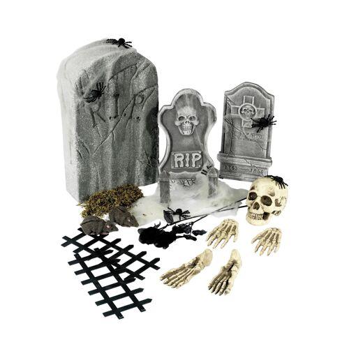 Vegaoo 21-teiliges Halloween-Deko-Set bunt