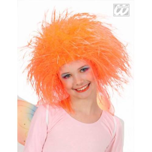 Vegaoo Perücke Feenkönigin orange Mädchen