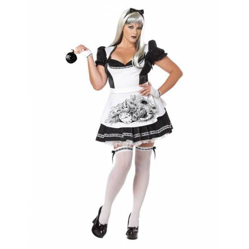 Vegaoo Halloween-Kostüm böse Wunderlandprinzessin Plus Size Halloween - XXL