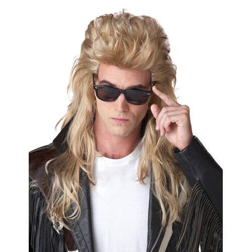 Vegaoo Vokuhila Perücke 80er Jahre blond