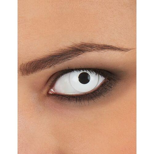 Vegaoo Weisse Kontaktlinsen für Erwachsene