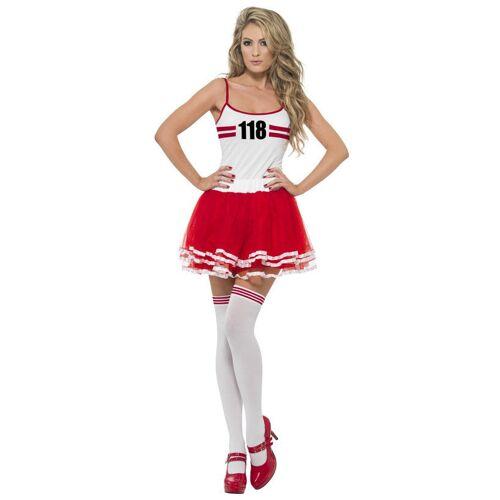 Vegaoo Sportler-Kostüm für Damen rot-weiss - L