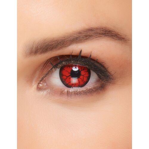 Vegaoo Monster-Kontaktlinsen rot-schwarz