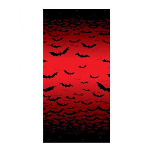 Vegaoo Fledermaus Wanddeko Halloween-Deko rot-schwarz